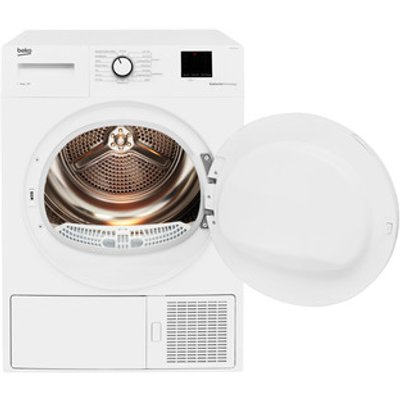 Beko DTBP10001W 10kg Heat Pump Tumble Dryer in White A Rated