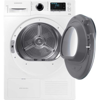 Samsung DV80K6010CW 8kg Heat Pump Condenser Tumble Dryer in White A