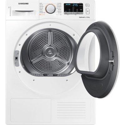 Samsung DV80M50101W 8kg Heat Pump Condenser Dryer in White A Smart Che
