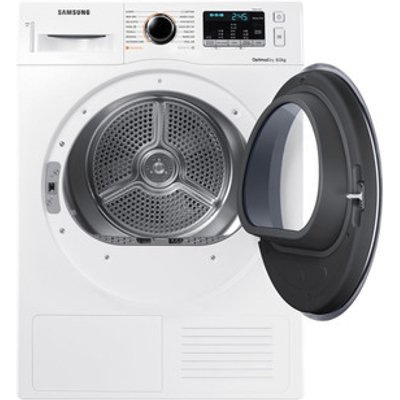 Samsung DV80M5013QW 8kg Heat Pump Condenser Dryer in White A Smart Che