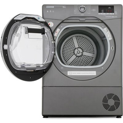 Hoover DXC10DCER 10kg Condenser Tumble Dryer in Graphite Sensor B Rate