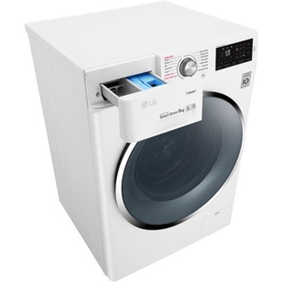 LG F4J6VY2W Washing Machine in White 1400rpm 9kg A Smart ThinQ