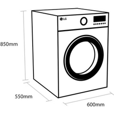 LG F4V308WNW Washing Machine in White 1400rpm 8kg A