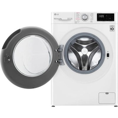 LG F4V309WSE Washing Machine in White 1400rpm 9kg B Rated