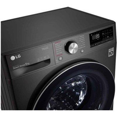 LG F4V909BTSE Washing Machine in Black 1400rpm 9kg A ThinQ