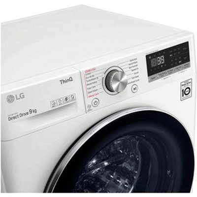 LG F4V909WTSE Washing Machine in White 1400rpm 9kg A Rated ThinQ