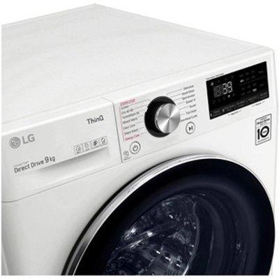 LG F6V1009WTSE Washing Machine in White 1600rpm 9kg A Rated ThinQ