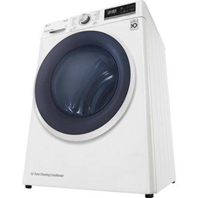 LG FDV309W 9kg Dual Heat Pump Condenser Dryer in White A Wi Fi