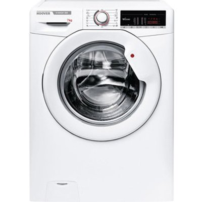 Hoover H3W47TE Washing Machine in White 1400rpm 7Kg D Rated