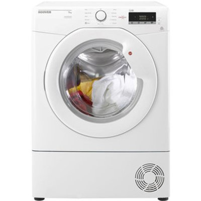 Hoover HLC9LG 9kg Condenser Tumble Dryer in White Sensor B Energy