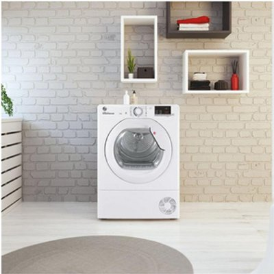 Hoover HLEC8DG 8kg NFC Condenser Tumble Dryer in White Sensor B Energy