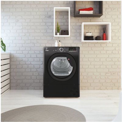 Hoover HLEC9DGB 9kg Condenser Tumble Dryer in Black Sensor NFC B Rated