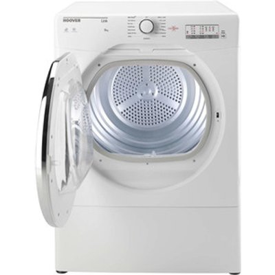 Hoover HLV8LCG 8Kg Vented Tumble Dryer in White Sensor C Energy