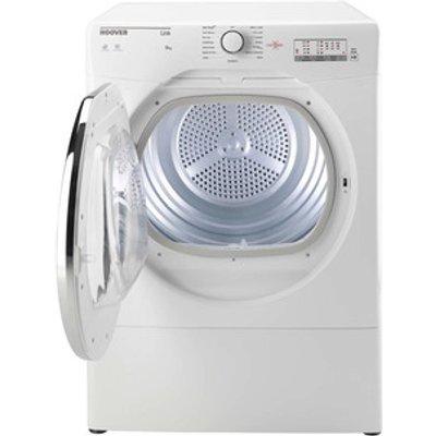 Hoover HLV8LCG 8Kg Vented Tumble Dryer in White Sensor C Energy