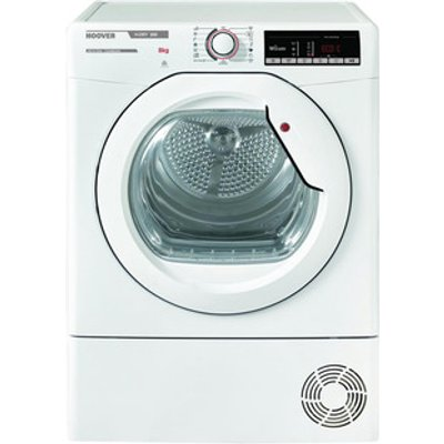Hoover HLXC8DG 8kg Condenser Tumble Dryer in White Sensor B Energy