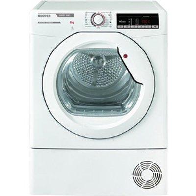 Hoover HLXC8TG 8kg Condenser Tumble Dryer in White Sensor B Energy