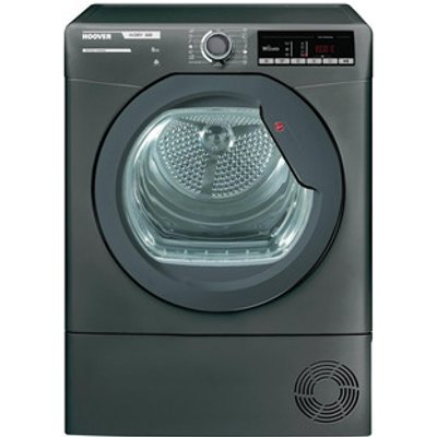 Hoover HLXC8TGR 8kg Condenser Tumble Dryer in Graphite Sensor B Energy