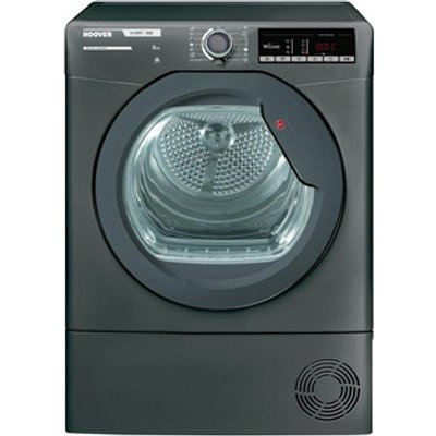 Hoover HLXC8TRGR 8kg Condenser Tumble Dryer in Graphite Sensor B Energ