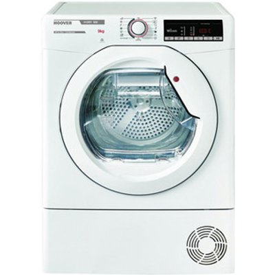 Hoover HLXC9TE 9kg Condenser Tumble Dryer in White Sensor B Energy