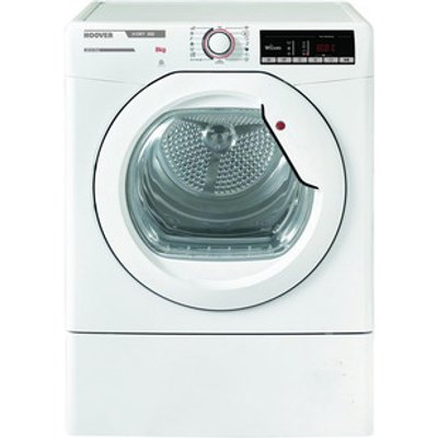 Hoover HLXV9TG 9Kg Vented Tumble Dryer in White Sensor