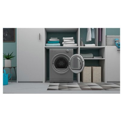 Indesit I1D80SUK 8kg Vented Tumble Dryer in Silver C Rated
