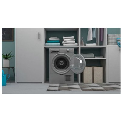 Indesit I2D81SUK 8kg Condenser Tumble Dryer in Silver B Rated
