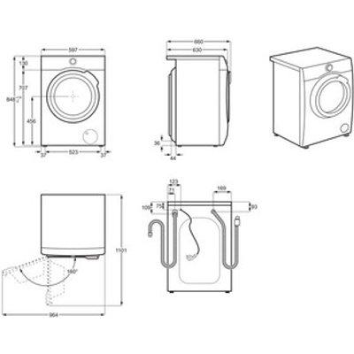 AEG L7WEE861R Washer Dryer in White 1600rpm 8kg Wash 6kg Dry