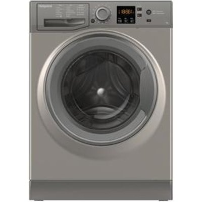 Hotpoint NSWE743UGG Washing Machine in Graphite 1400rpm 7Kg A Rated