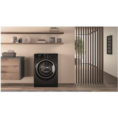 Hotpoint NSWF742UBS Washing Machine in Black 1400rpm 7Kg A Rated