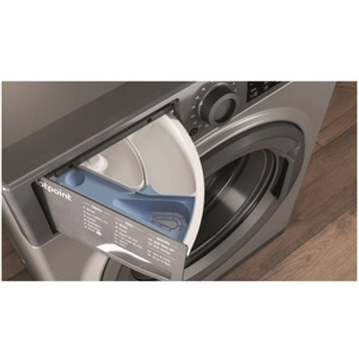 Hotpoint NSWM863CGG Washing Machine in Graphite 1600rpm 8Kg D Rated