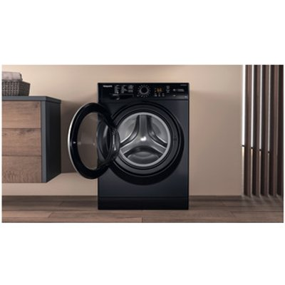 Hotpoint NSWM963CBS Washing Machine in Black 1600rpm 9Kg A Rated