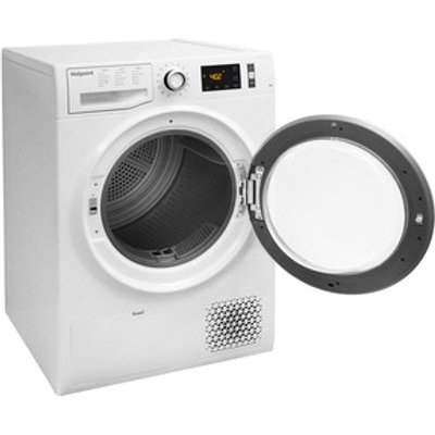 Hotpoint NTM1182XB 8kg Heat Pump Condenser Tumble Dryer in White A Rat