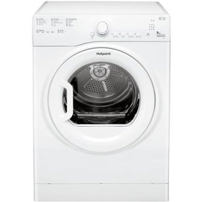 Hotpoint TVFS83CGP9 8kg Vented Tumble Dryer in White Sensor Drying