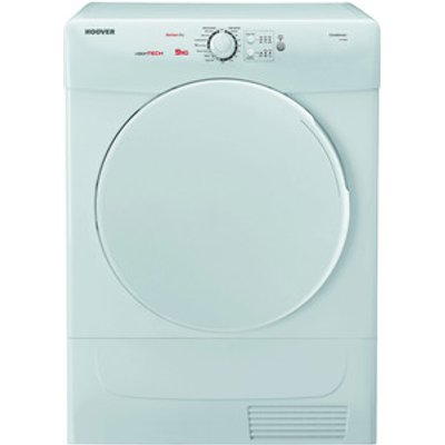Hoover VTC590B 9kg Condenser Tumble Dryer in White Sensor B Energy