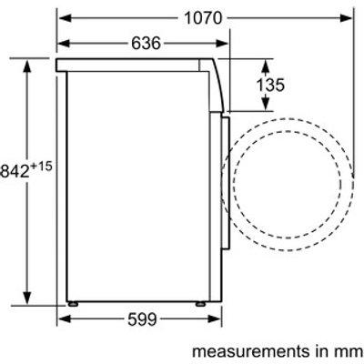 Siemens WT45W492GB iQ500 9kg Heat Pump Condenser Tumble Dryer in White