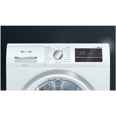 Siemens WT47RT90GB 9kg Heat Pump Condenser Tumble Dryer in White A