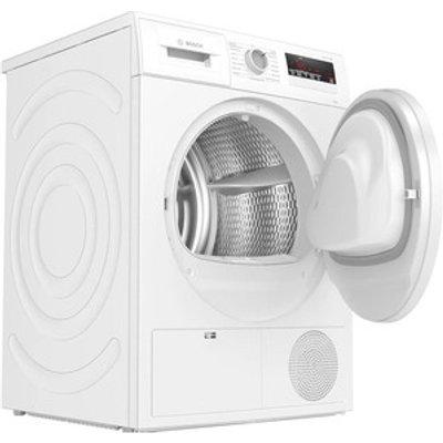 Bosch WTN83201GB 8kg Condenser Dryer in White Sensor B Energy