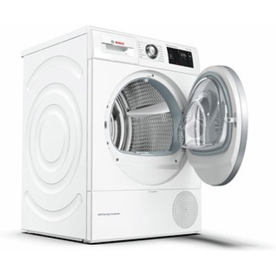 Bosch WTWH7660GB Serie 6 9kg Heat Pump Condenser Dryer White A Rated