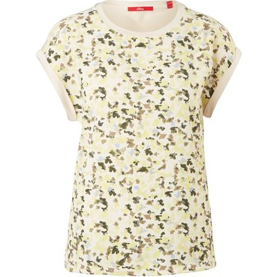 S.oliver T-Shirt Fabricmix-T-Shirt 2060841.101 | S.OLIVER SALE