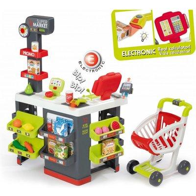 SMOBY Children's Supermarket Playset - Grey