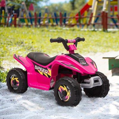 6V Kids Electric Ride on Car ATV Toy Quad Bike - Pink
