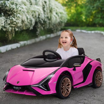 Compatible 12V Battery-powered Electric Ride On Car - Pink