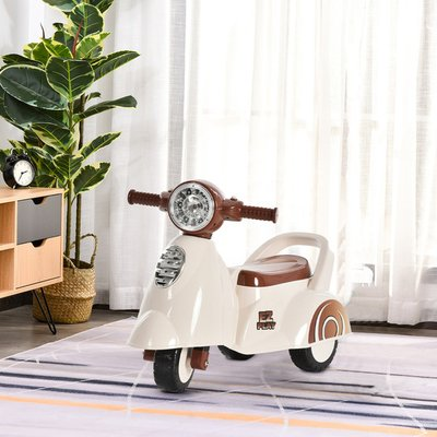 Baby Ride On Bike with Music & 3 Wheels - White