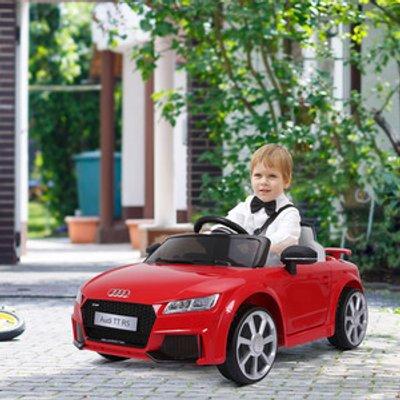 12V Battery Licensed Audi TT RS Ride On Car - Red