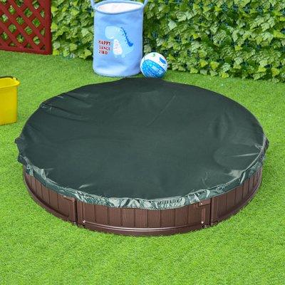 Kids Outdoor Round Sandbox - Brown