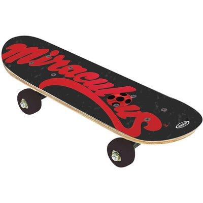 MIRACULOUS Children's 17-inch Wood Mini Skateboard Cruiser Skateboard