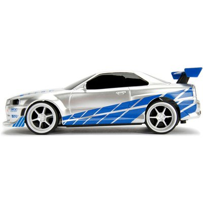 FAST and FURIOUS 2 Fast 2 Furious Brians Nissan Skyline GTR BNR34 Remote Control Car