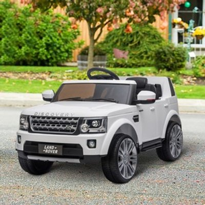 Landrover Discovery 12V Electric Ride On Car - White