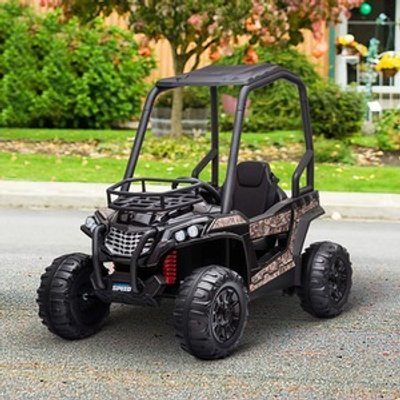 Electric Ride On Off Road UTV Toy - Black