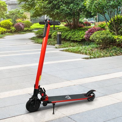 250W Power Electric Scooter with Light - Red